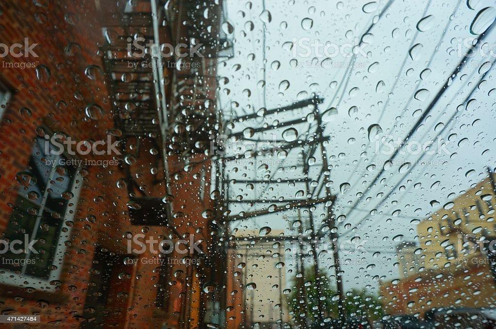 Raining back the time stock photo