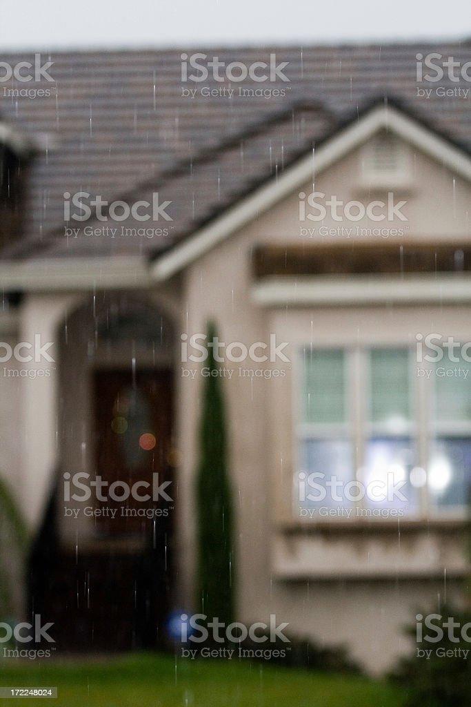 Raining In The Neighborhood royalty-free stock photo