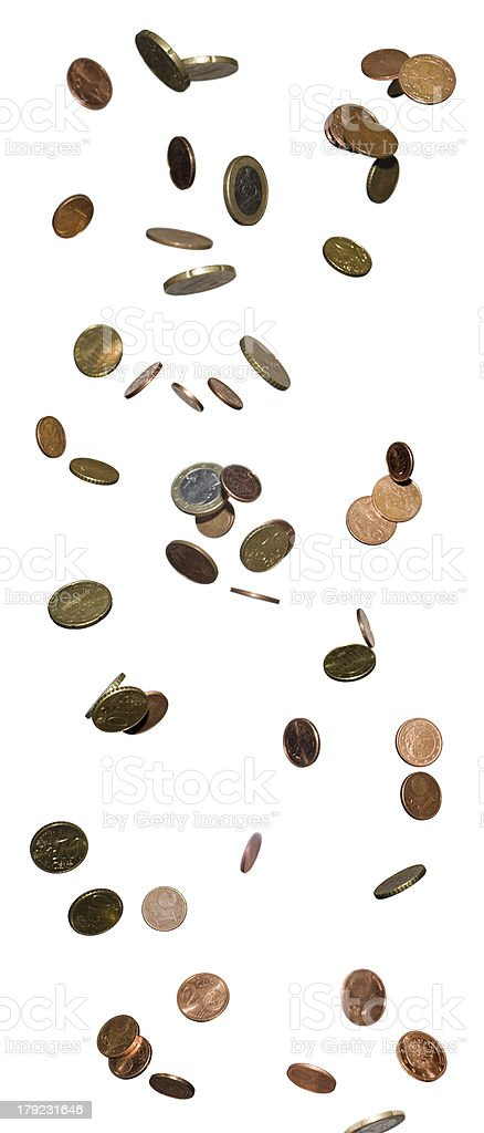 raining money stock photo