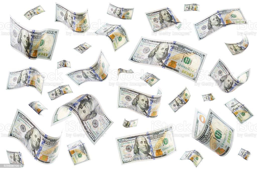 Raining Geld Lizenzfreies stock-foto