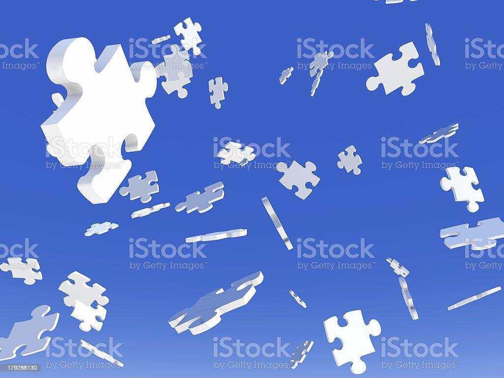 Raining Puzzles royalty-free stock photo