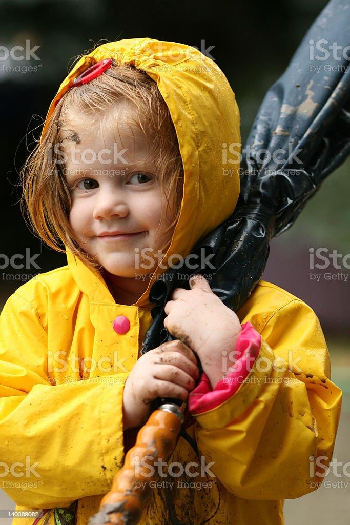 Rain+mud+child=mess royalty-free stock photo