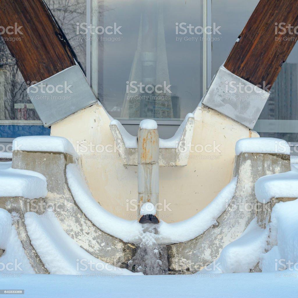 Rainwater system design stock photo