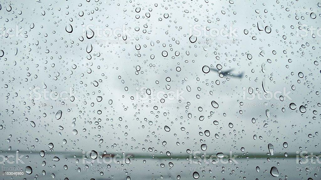 rainy airport royalty-free stock photo