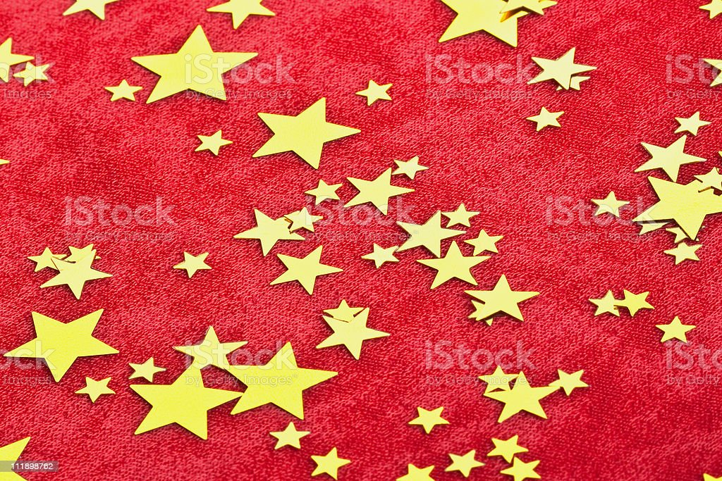 Rainy confetti. Red background royalty-free stock photo
