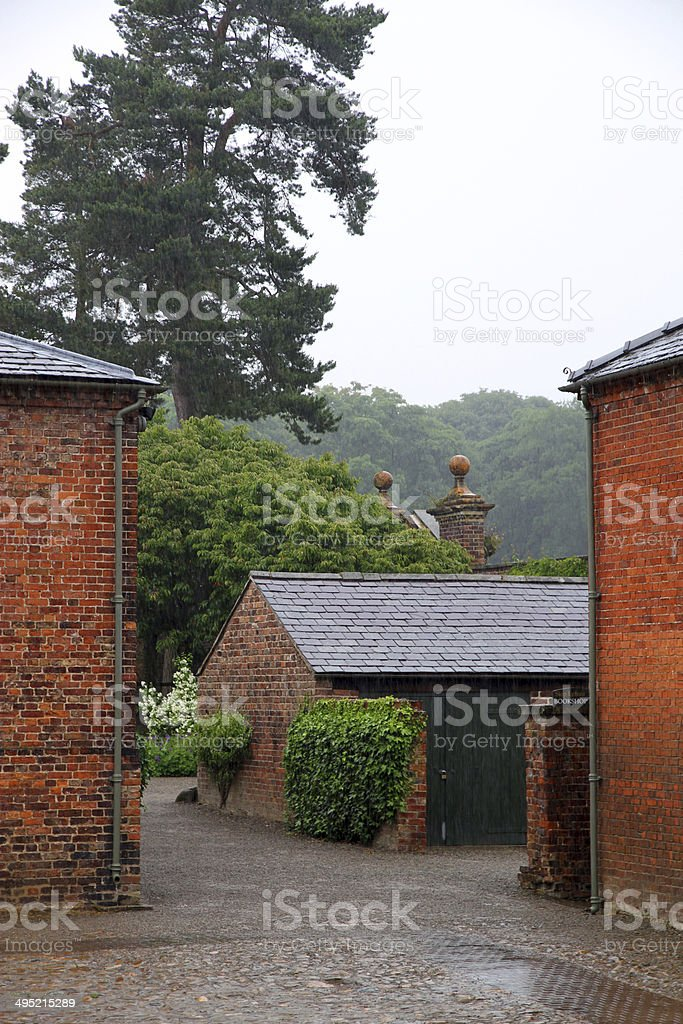 Rainy Courtyard royalty-free stock photo