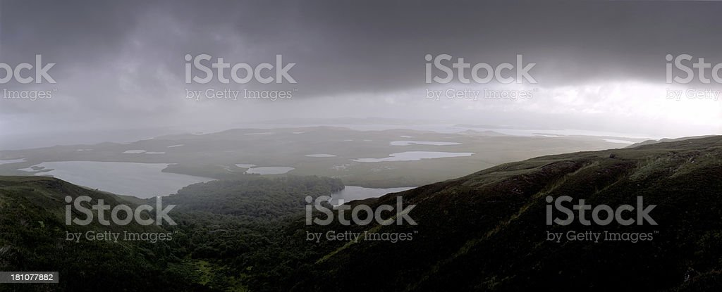 Rainy Dark Panorama royalty-free stock photo