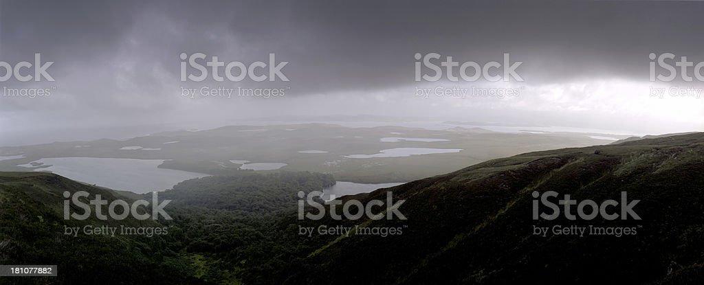 Rainy Dark Panorama stock photo