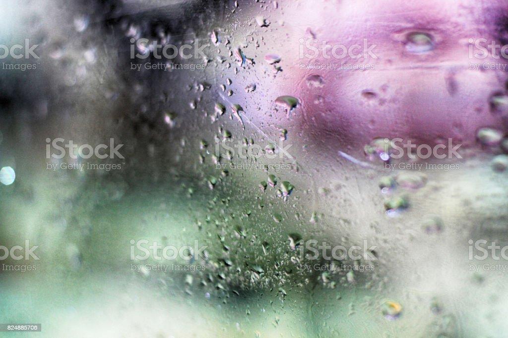 Rainy day colour stock photo