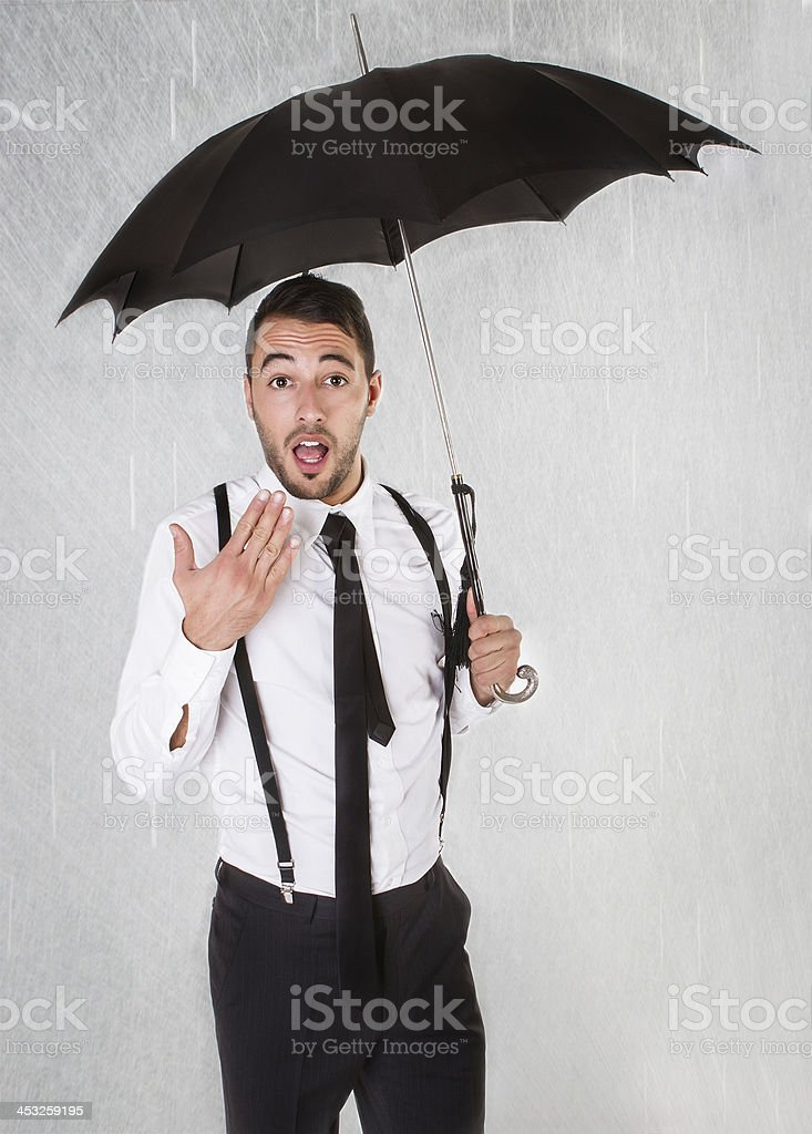 rainy day for a business man royalty-free stock photo