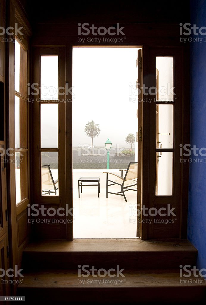 Rainy Day In Holidays On Lanzarote stock photo