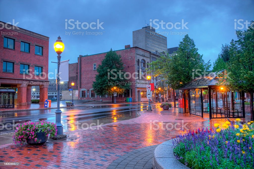 Rainy Day in Moncton stock photo