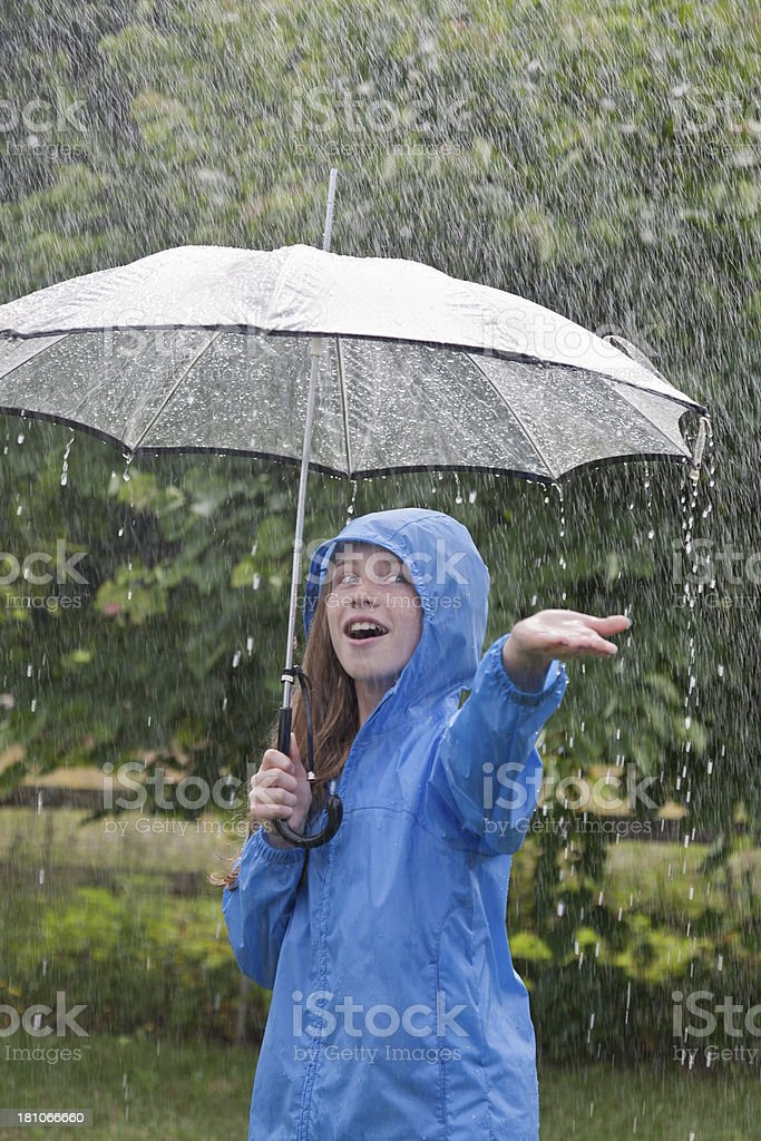 Rainy Day in Summer royalty-free stock photo