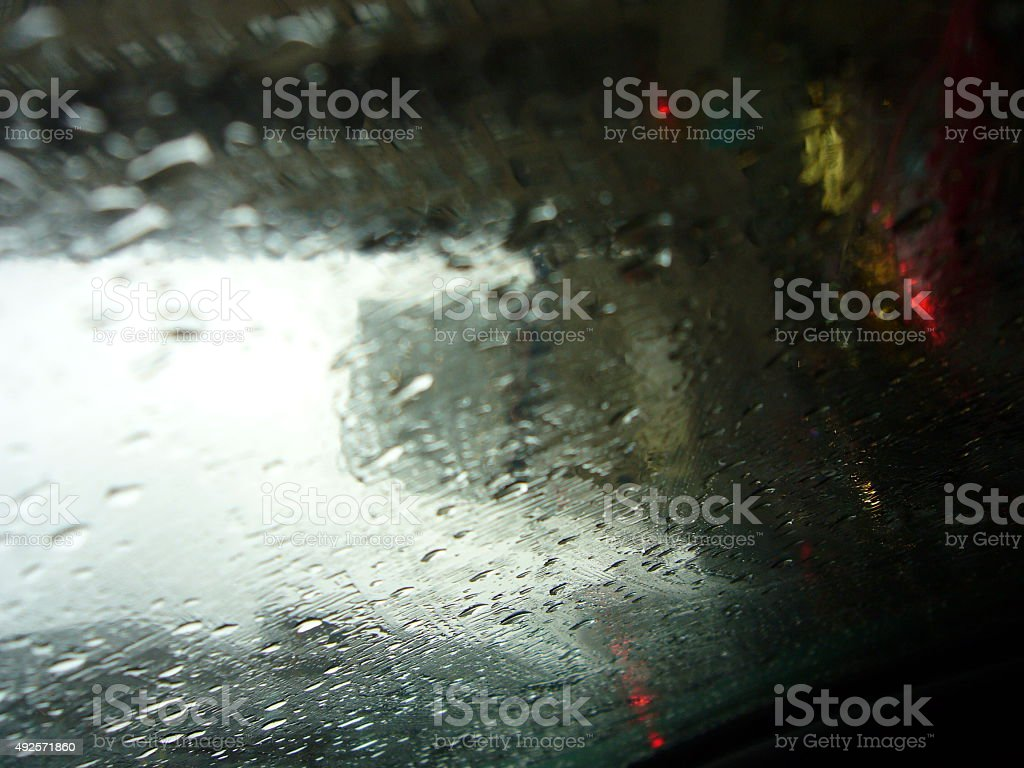 Rainy day in the car royalty-free stock photo