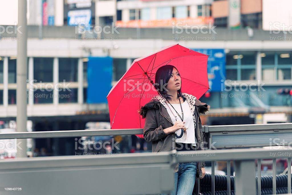 rainy day in Tokyo stock photo