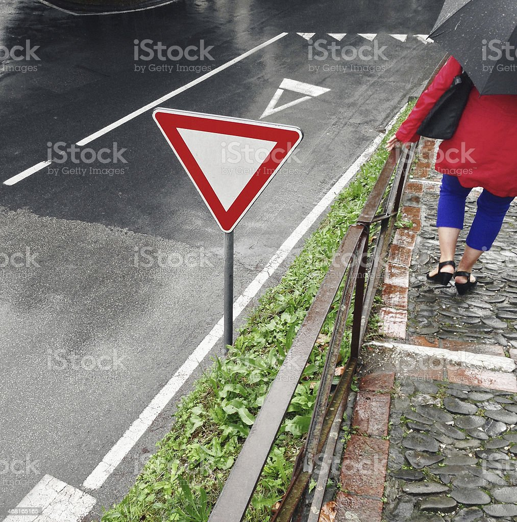 Rainy day in town royalty-free stock photo