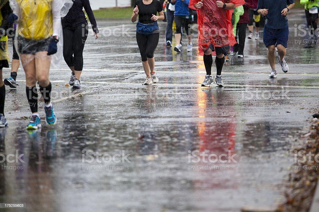 Rainy Day Marathon royalty-free stock photo