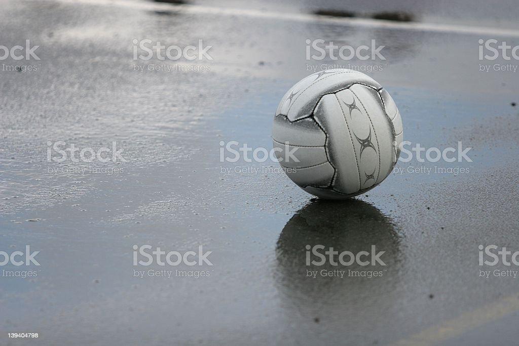 Rainy day netball royalty-free stock photo