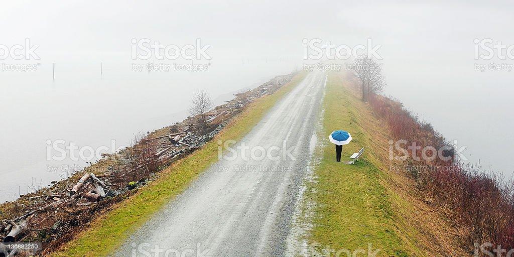 rainy day umbrella walk royalty-free stock photo