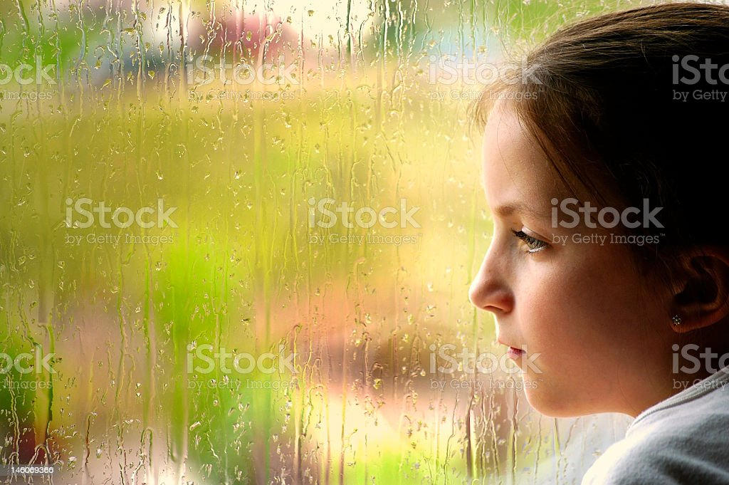 Rainy Day Window stock photo