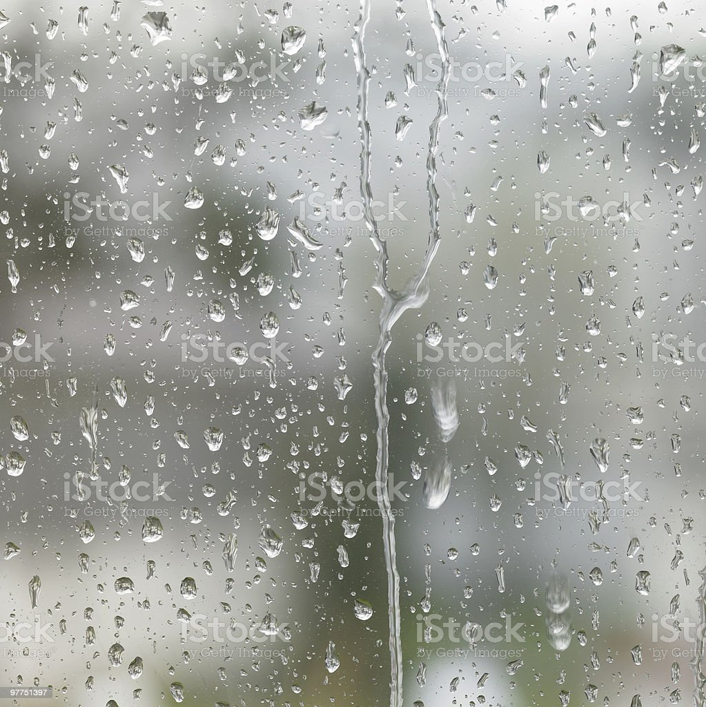rainy detail in blurry back royalty-free stock photo