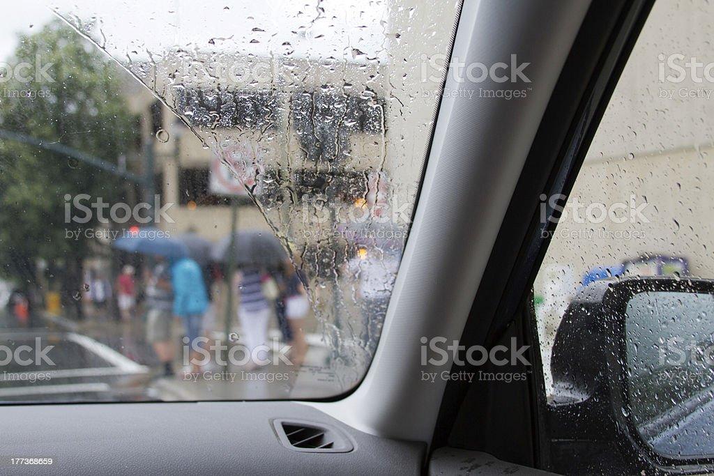 Rainy Drive royalty-free stock photo
