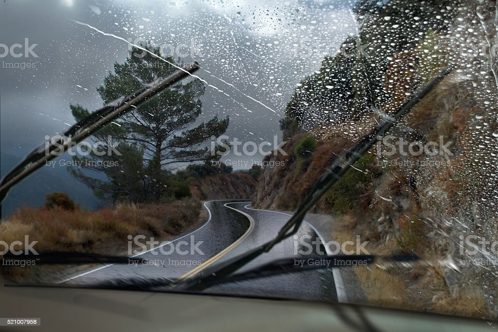 Rainy Mountain Road stock photo