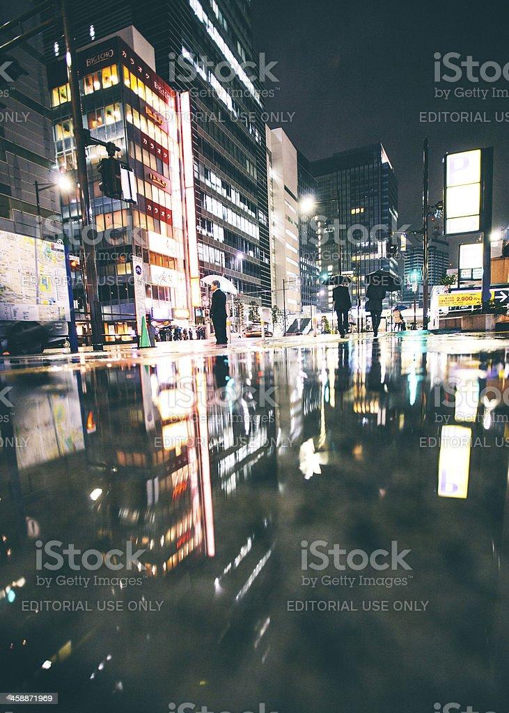 Rainy night in big city. royalty-free stock photo