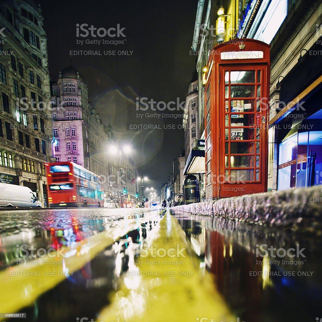 Rainy night in London. royalty-free stock photo
