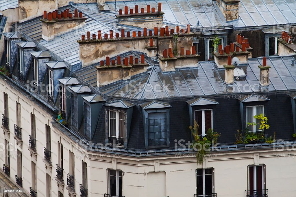 Rainy Paris stock photo