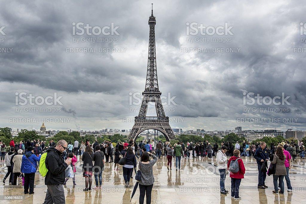Rainy Paris royalty-free stock photo