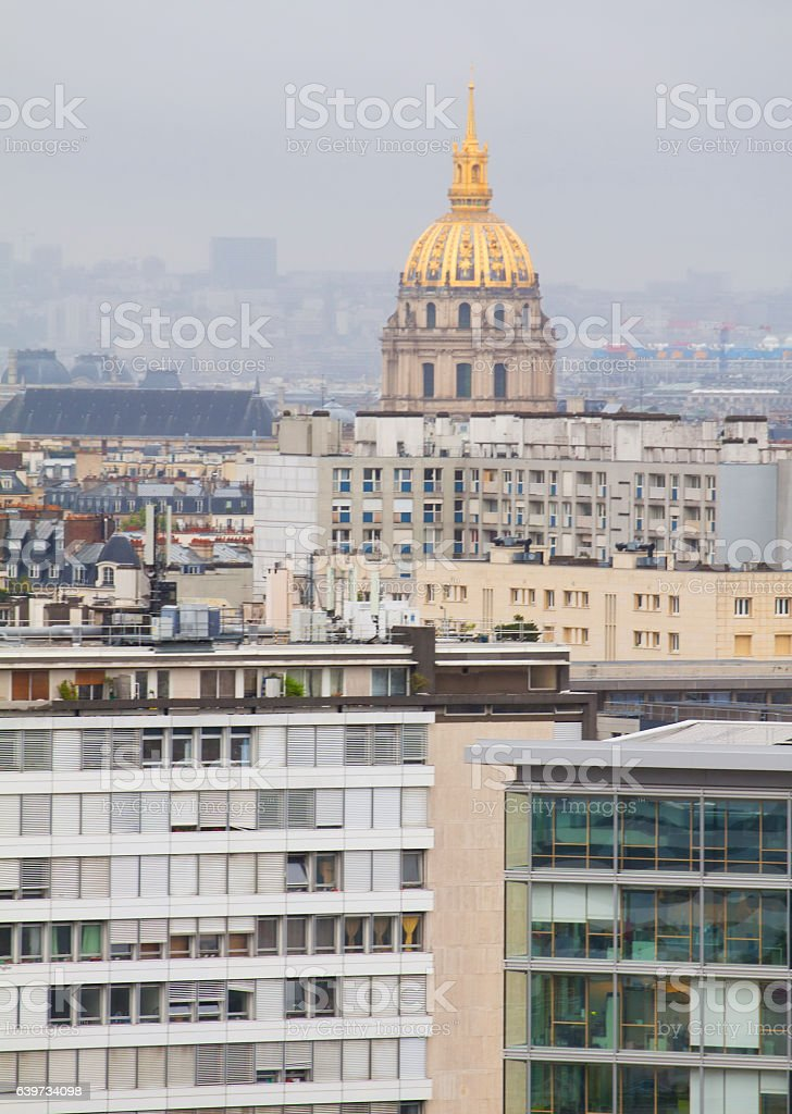 Rainy Paris stock photo