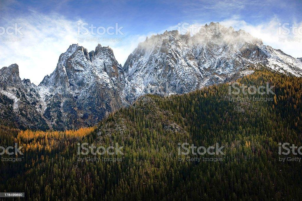 Rainy Pass, North Cascades, Washington royalty-free stock photo