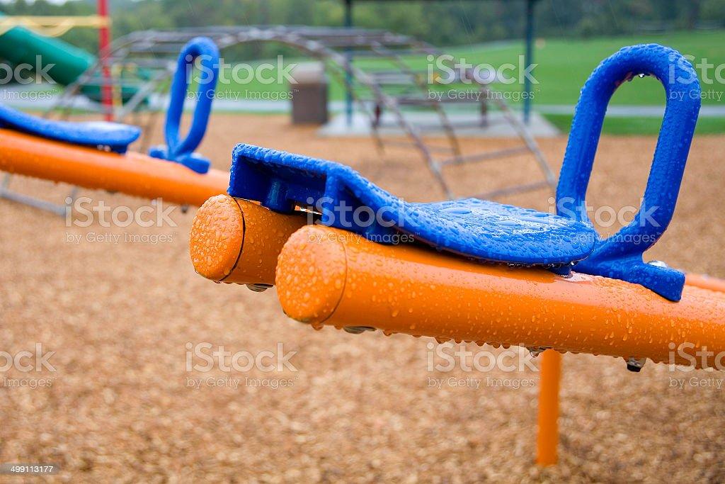 Rainy Playdate stock photo