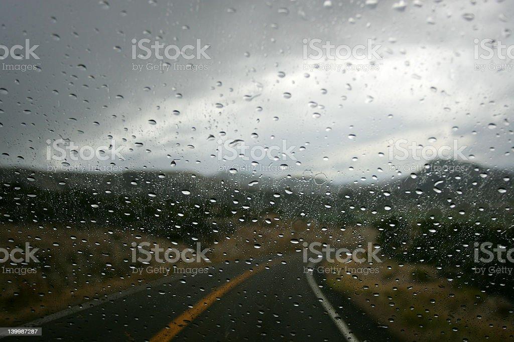 Rainy Road royalty-free stock photo