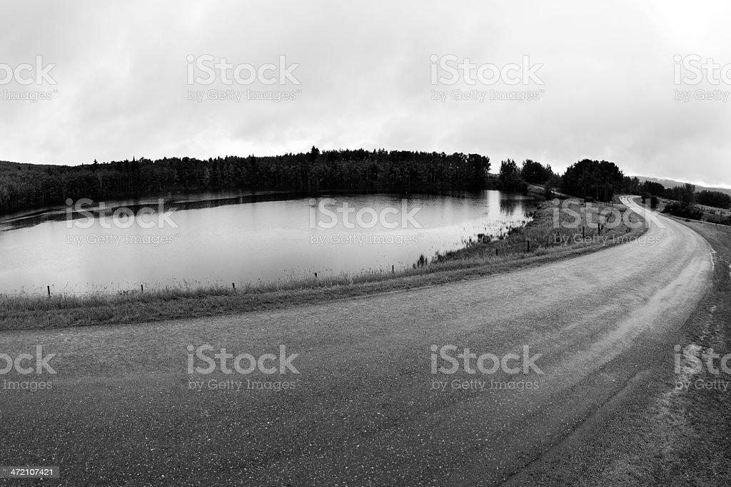 Rainy Road Trip royalty-free stock photo