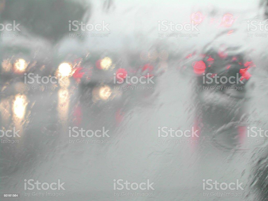 Rainy Roadway royalty-free stock photo