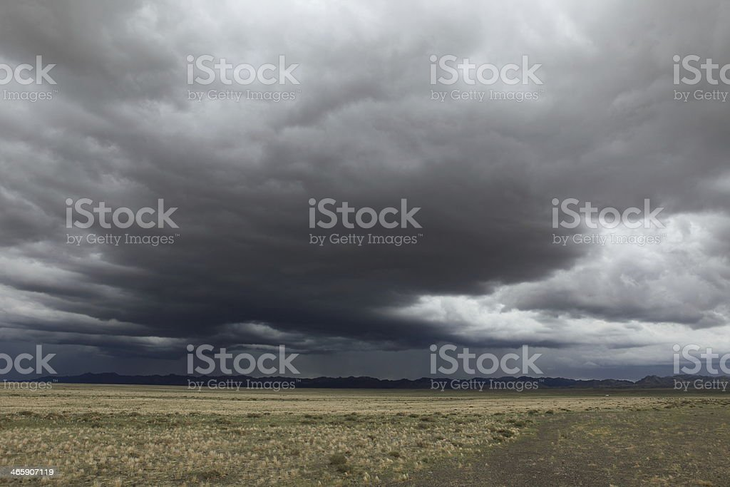 Regenzeit in der Mongolei stock photo