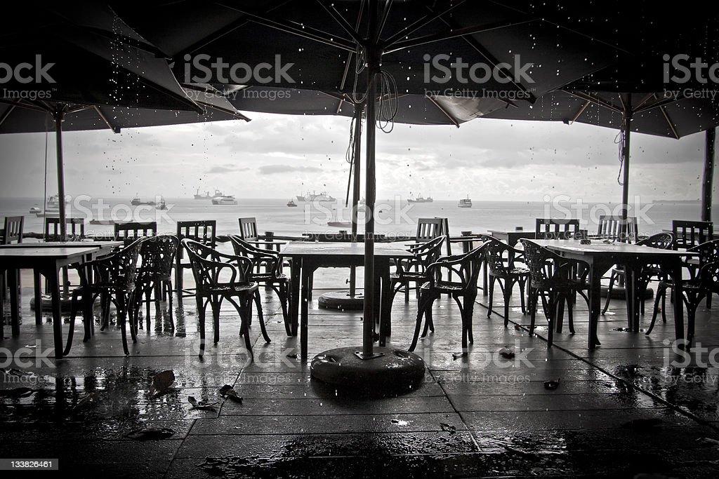 Chuvoso Cidade de Zanzibar foto de stock royalty-free