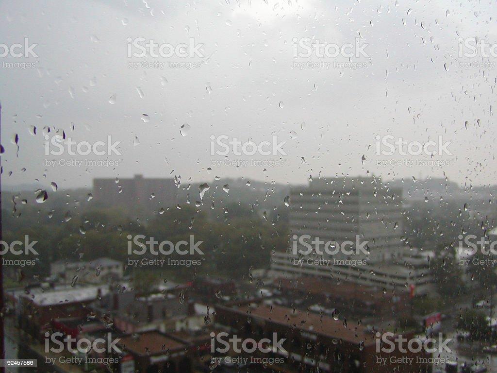 rainy view royalty-free stock photo