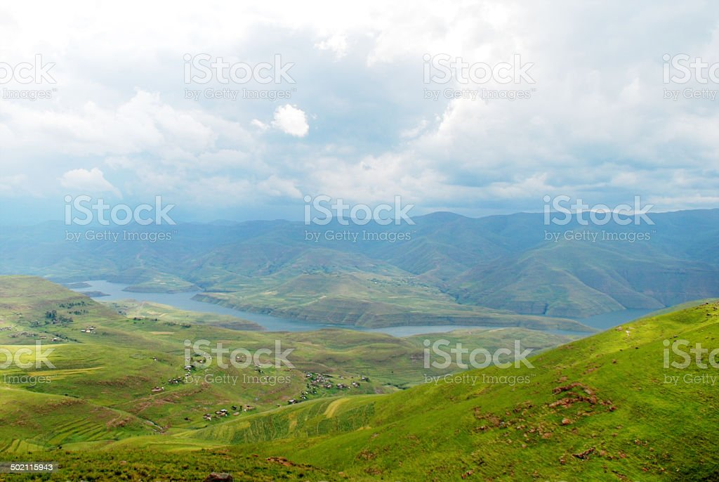 Rainy Weather in the Mountains stock photo