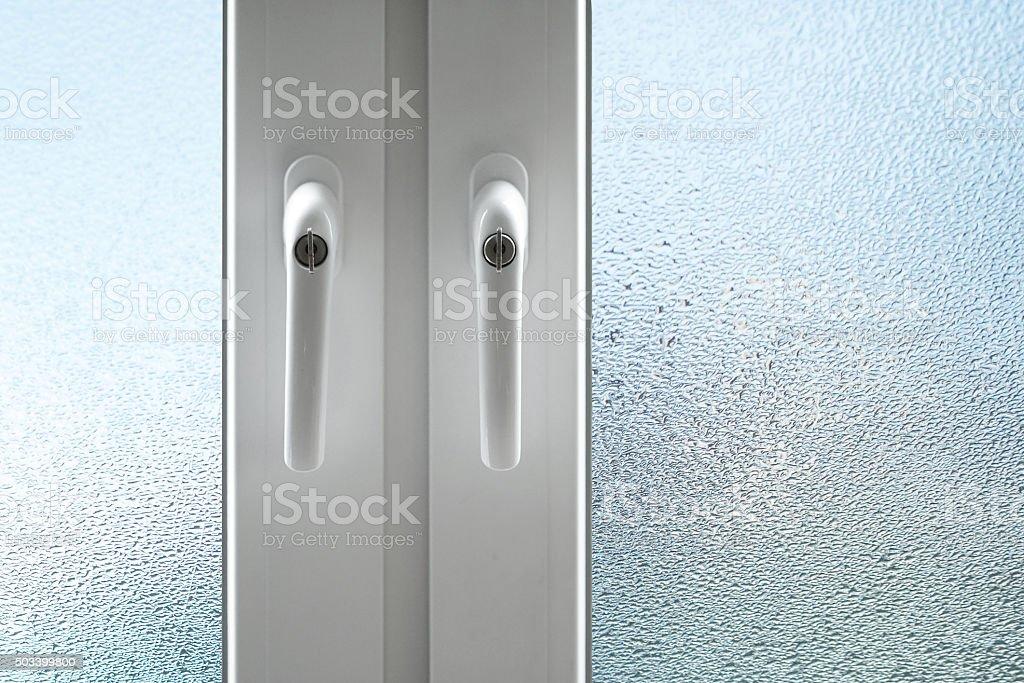 rainy window stock photo