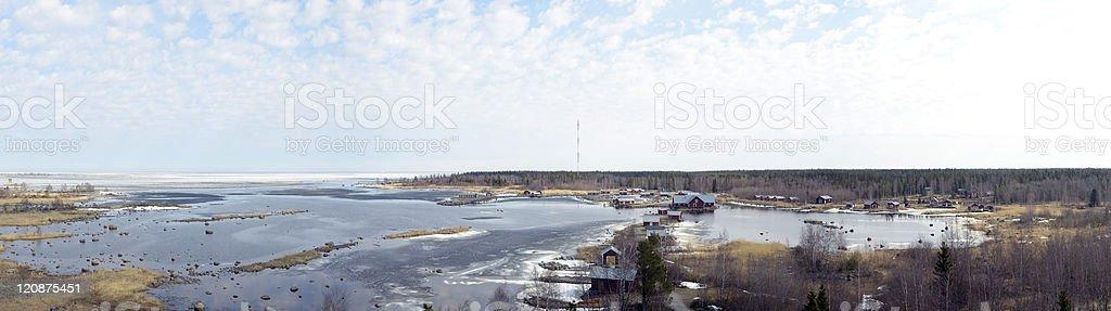 Raippaluoto panorama stock photo