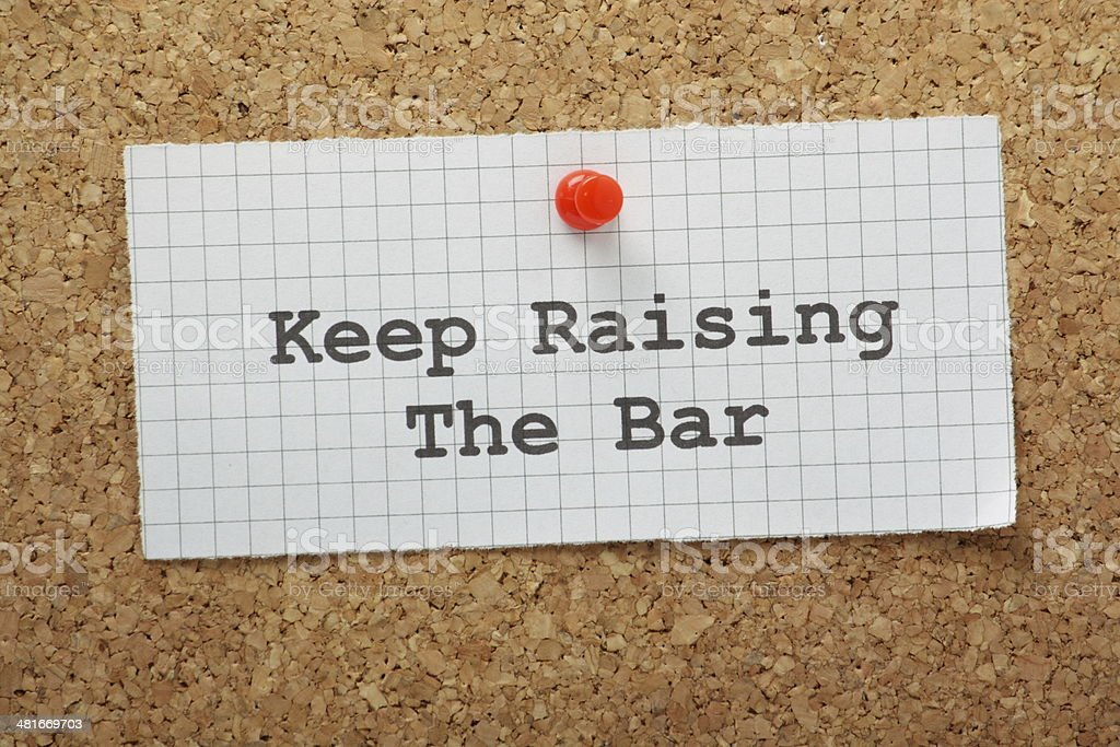 Raise The Bar stock photo