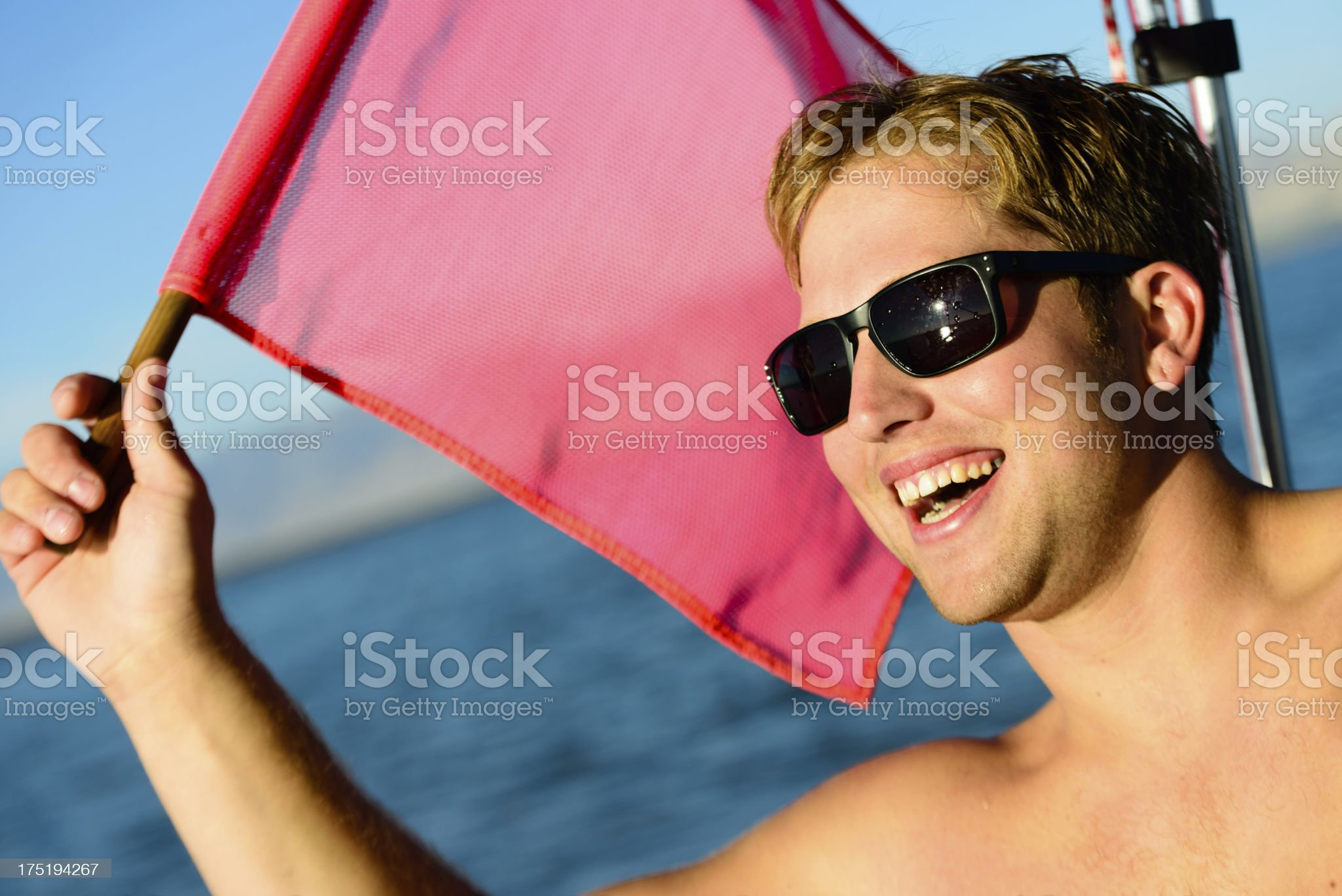Raise the Safety Flag royalty-free stock photo