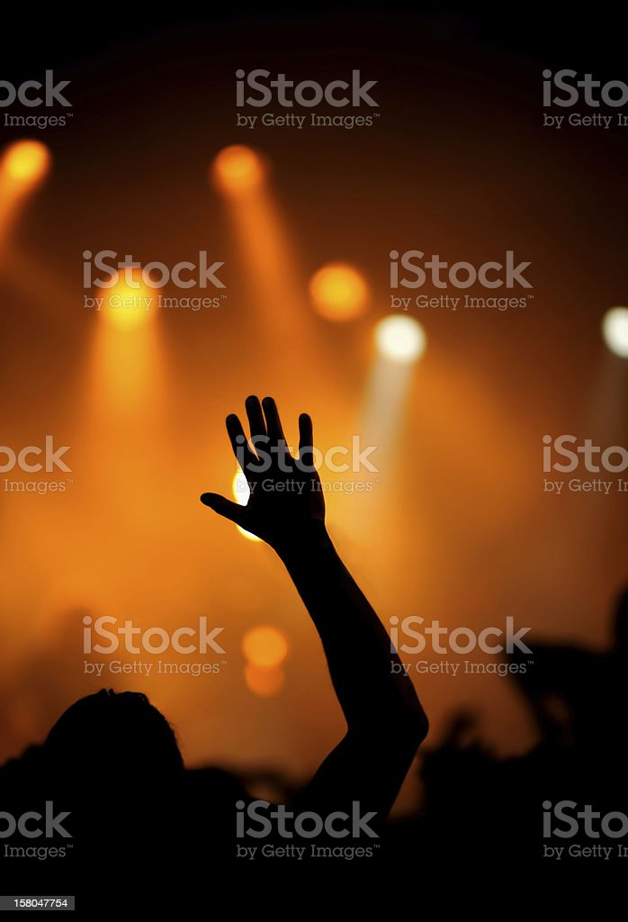 raise your hand royalty-free stock photo