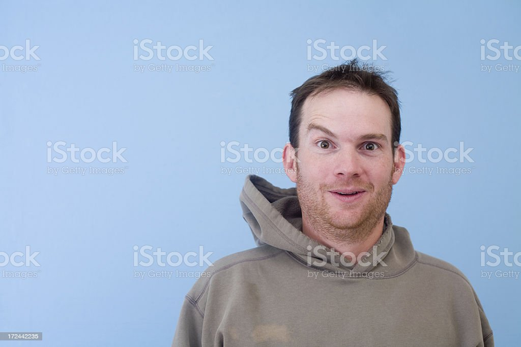 raised eyebrow royalty-free stock photo