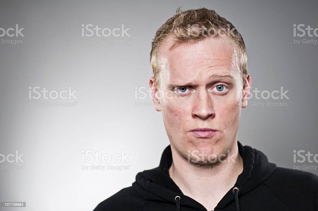 Raised Eyebrow Portrait stock photo