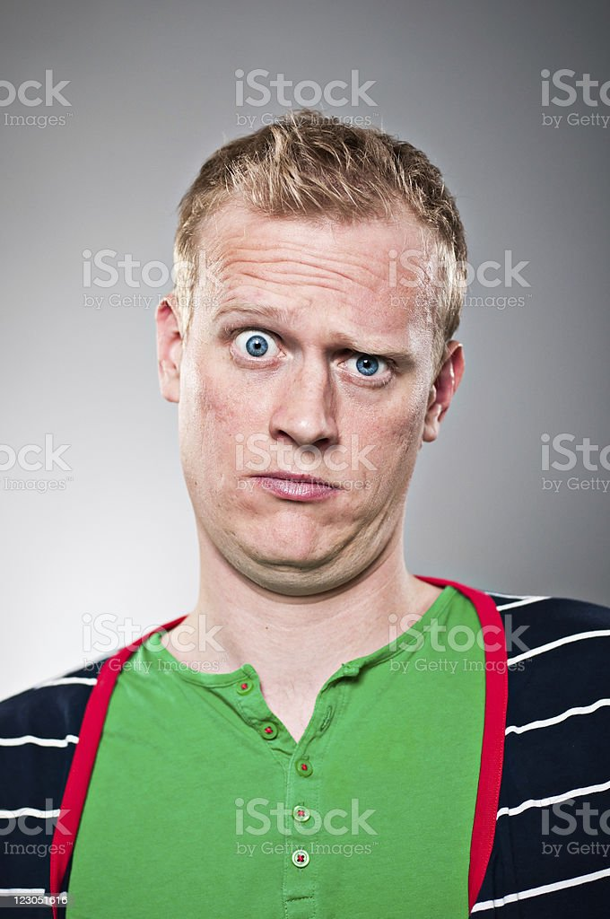 Raised Eyebrow Portrait royalty-free stock photo