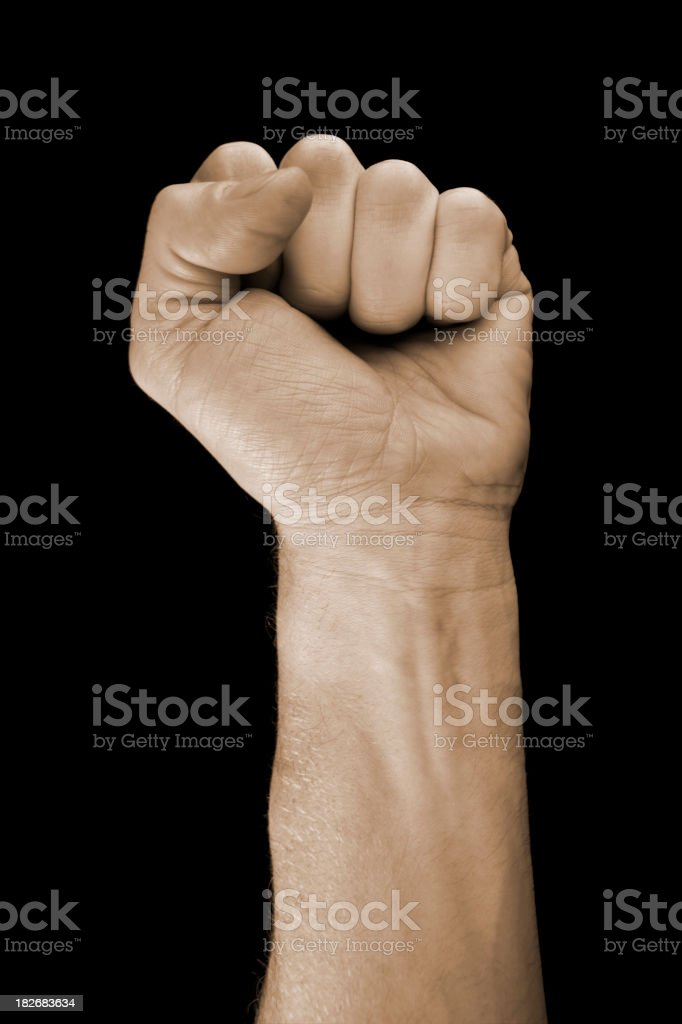 raised fist royalty-free stock photo